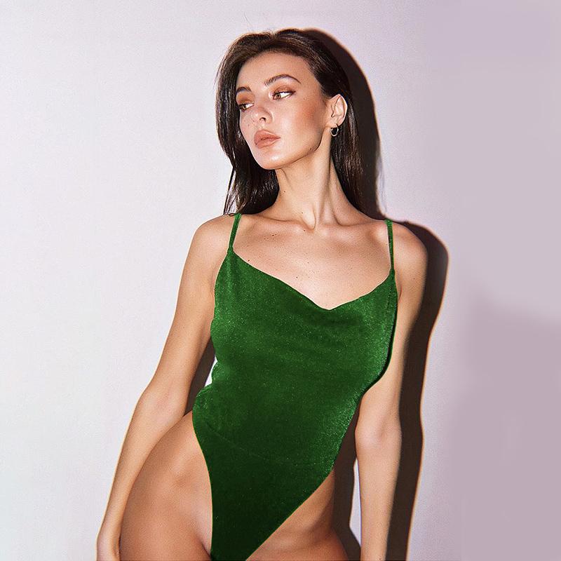 Hugcitar 2020 блестящее без рукавов облегающий сексуальный костюм весна женское Новая модная уличная одежда клуб костюмы для вечеринок Сплошной ...(Китай)