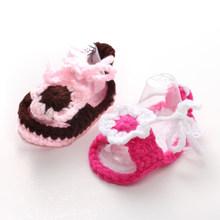 Новые сандалии для девочек из 2 предметов детские носки с мягкой подошвой носки с большим цветком для маленьких девочек 11 см(China)
