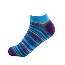 SANZETTI 1 пара, новинка 2020 года, летние повседневные мужские носки по щиколотку, цветные носки из чесаного хлопка, носки с прямоугольным узором ...(China)