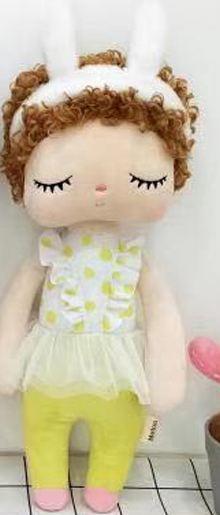 Metoo вьющиеся Ангел плюшевые с нежным кроличьим милые Животные для детей игрушки кукла Анджела для девочек на день рождения; Рождественский ...(Китай)
