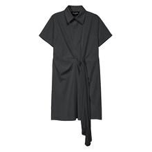 Новинка 2020 сплошной цвет: белый, черный, женская летняя рубашка миди платье плиссированная лента Офисные женские туфли элегантное платье Ст...(Китай)