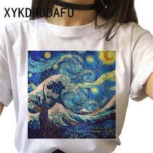 Ван Гог Футболка женская, модная, художественная, графическая, Ulzzang Эстетическая женская одежда повседневная, гранж Эстетическая футболка(China)