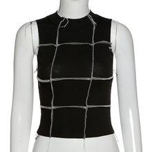 Simenual, из кусков, облегающее платье с оборкой топы с бретельками для женщин Повседневная без рукавов Лето 2020 Топ Мода в рубчик узкие бак(Китай)