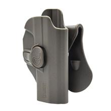 Amomax Регулируемая тактическая кобура для серии P99QA-правая черная (стандартная только с поясной пластиной, без других аксессуаров)(Китай)