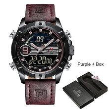 Мужские наручные часы NAVIFORCE Reloj Hombre, роскошные брендовые кварцевые часы из натуральной кожи, спортивные часы, мужские часы, 2019(Китай)