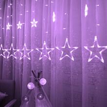 LEADLY звезд светодиодные занавески окна занавески свет фонари на солнечных светильник подвесной лампа светодиодная новогодний декор светод...(Китай)