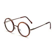 SO & EI новые классические ретро круглые металлические очки оправа Женские винтажные прозрачные линзы очки мужские Оптические очки оправа(Китай)