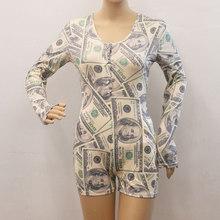 Сексуальные женские пижамы Onsies размера плюс, пижамы, пижамы для сна, комбинезон, пижамы для взрослых, короткий комбинезон, облегающий Летний...(Китай)
