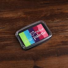Ретро 6 цветов Morandi чернильный коврик марки Канцтовары градиент цвета Inkpad Скрапбукинг Сделай Сам прозрачные штампы для карточного журнала(Китай)