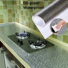40х100см кухня маслостойкая алюминиевая фольга стикер настенный стол пол водонепроницаемый сделай сам мебель для дома украшения фольги стил...(Китай)