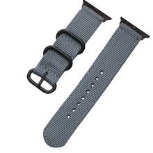 Нейлоновый тканевый ремешок для Apple Watch Series 5 4 3 Green iWatch 4 3 спортивные ремешки 4 3 2 42 44 мм 38 40 мм(Китай)