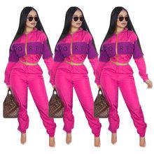 2020 летний комплект из двух предметов размера плюс, укороченный топ и штаны, Женский комплект 2 шт., Клубная одежда, одинаковые комплекты, спор...(Китай)