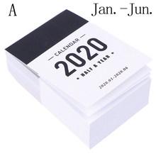 Новый милый календарь 2020, мини-стол с полугодовым календарем, офисная, школьная работа, График обучения, Плановик, канцелярские принадлежно...(Китай)