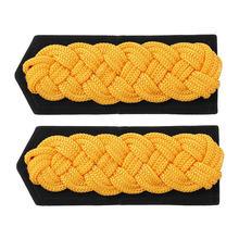 1 пара ручной работы плетеный шнур Наплечная доска эполеты традиционная Униформа Декор брошь значки DIY военная эполетка для одежды(Китай)