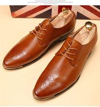 Броги мужские, формальные, парадные, мужские итальянские ботинки, классические, кожаные, под платье, белые, официальная обувь для мужчин, сва...(China)