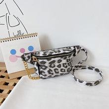 Повседневные поясные сумки для женщин 2020, леопардовая Кожаная поясная сумка для телефона, нагрудная сумка, дамская сумка с цепочкой на ремн...()