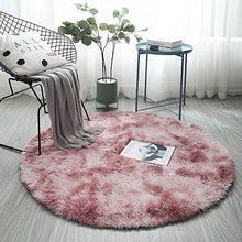 Пушистый круглый ковер, ковры для гостиной, Декор, ковры из искусственного меха, детская комната, Длинные Плюшевые ковры для спальни, лохмат...(Китай)