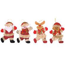 Горячая Распродажа милые домашние декоративные рождественские украшения подарок Санта Клаус Снеговик Дерево Игрушка Кукла повесить Рожде...(Китай)