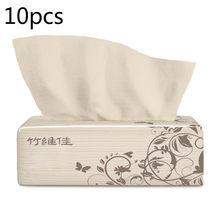 Бамбуковое целлюлозное полотенце для туалетной бумаги, 4 слоя, можно вытянуть 220 шт. утолщенное мягкое натуральное цветное бумажное полотен...(Китай)