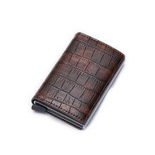 Мужской кошелек DIENQI Rfid, тонкий винтажный мини-кошелек аллигатора с отделением для карт, 2020(Китай)