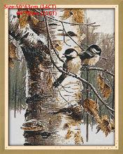 Наборы узоров для вышивки крестиком, Осенние китайские счетные птицы 14CT 11CT напечатанные на холсте DMC Набор для вышивки крестом(Китай)