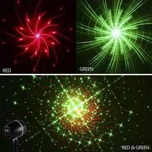 Лазерный проектор Galaxy, красный и зеленый цвета, мерцающие Звездные огни, вращающиеся, сценический эффект(Китай)