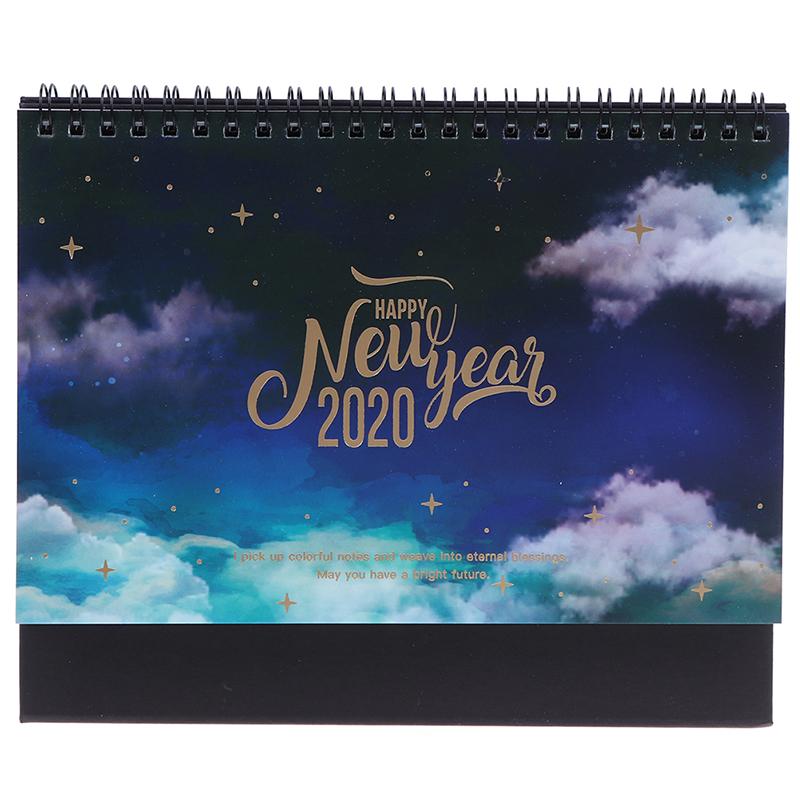 2020 мечтательная красочная настольная стоящая рулонная бумага, календарь, памятка, ежедневное расписание, настольный планировщик, годовой О...(Китай)