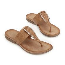 Meotina/летние шлепанцы; женская обувь; пляжная обувь на плоской подошве с металлическим украшением; модные Вьетнамки; шлепанцы; женские сандал...(Китай)