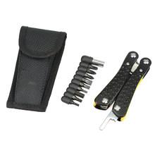 NEWACALOX наружные портативные Многоточечные складные плоскогубцы для зачистки проводов обжимные плоскогубцы для кемпинга с отверткой для нож...(Китай)