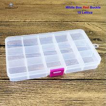 Прозрачная коробка для хранения, 1 шт., 100% Новинка, PP, для фальшивых носочных Кольцов, спиральных коробок для пирсинга, с язычком, 8/10/15, контейн...(China)