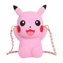 Аниме Poke Pikachu силиконовая сумка на одно плечо сумка для косплея pokemon мультяшная сумка для мальчиков и девочек плюшевая сумка Moneybag Мобильный ...(Китай)