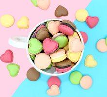 6 шт. имитация пищевая Смола очаровательные милые каваи Макаруны конфеты Подвески для изготовления ювелирных изделий изделия из смолы куло...(Китай)