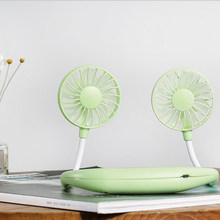 Регулируемый 7-листный перезаряжаемый вентилятор с мини USB портативным горлышком, спортивный вентилятор, шейный стол, ручной вентилятор, ко...(Китай)