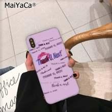 MaiYaCa Thank U Next Ariana Grande DIY красивый чехол для телефона с рисунком для iPhone 11 pro XS MAX 8 7 6 6S Plus X 5 5S SE XR(Китай)