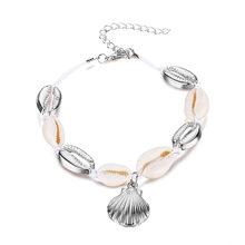 RU в богемном стиле из натуральной раковины ножной шнур-браслет для Для женщин на ножку, ювелирные изделия Летний пляж босиком браслет лодыж...(Китай)