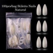 100 шт./пакет, накладные ногти, акриловые балерины, искусственные прозрачные/натуральные/белые направляющие капсулы, шпильки, полное покрыти...(Китай)