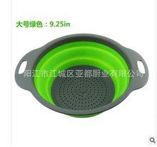 TRP + PP Кухонный складной дуршлаг ситечко над раковиной корзина для приготовления пищи дренаж воды складные кухонные сетчатые инструменты(Китай)