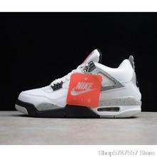 Nike Air Jordan 4 Denim AJ4 дышащие мужские Новое поступление Аутентичные баскетбольные кроссовки спортивные кроссовки size40-46()