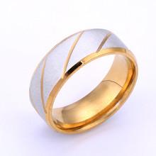 Модные золотые Титан Сталь кольца для мужчин и женщин синий пара колец ювелирные изделия Пара Обручение кольцо черный имеет женскую индиви...(Китай)