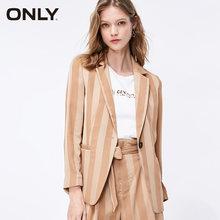 Только Женский Свободный Полосатый шифоновый пиджак | 119108547(Китай)