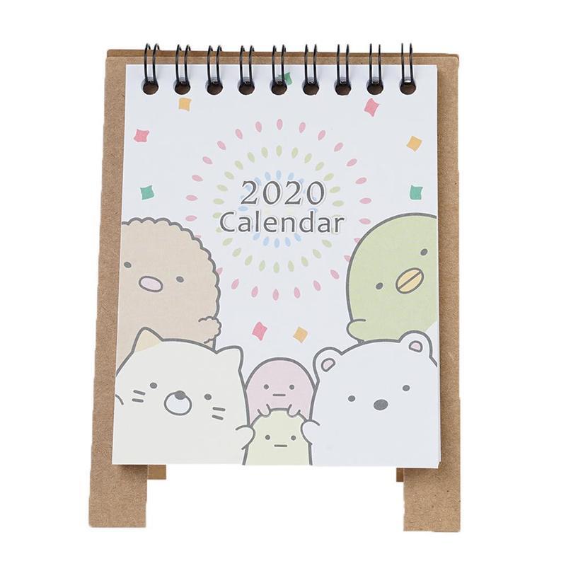 Мини настольный 2020, календарь, рисованная бумага, ежедневный планировщик, напоминание, органайзер, 2020, планировщик, 13,5X9,5 см(Китай)