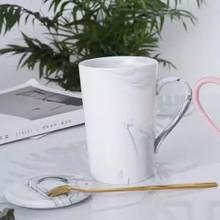 Кружка для влюбленных, чашка для чая с северным цветком, керамическая чашка, фильтр для чая, чашка для разделения воды с крышкой, ложка на зак...(Китай)