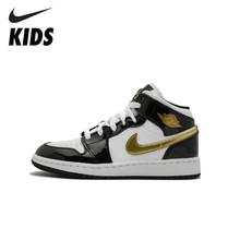 Nike Air Jordan 1 оригинальная обувь для детей Новое поступление детская Баскетбольная обувь удобные спортивные кроссовки # BQ6931-007(Китай)