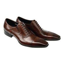 Кожаные мужские модельные туфли из натуральной кожи; Черные итальянские модные деловые туфли-оксфорды; Свадебная обувь с перфорацией типа ...(Китай)