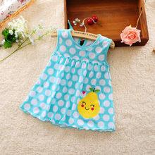 1 шт., платье для маленьких девочек, летняя одежда для маленьких девочек, детское летнее платье в цветочек, специальное предложение(Китай)