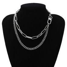 Панк Майами кубинское колье-чокер, массивное ожерелье в стиле хип-хоп из алюминия и золота, массивное ожерелье на цепочке, Женские Ювелирные...(Китай)