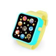 Детские Многофункциональные Музыкальные умные часы, 6 цветов, пластиковые Имитационные цифровые часы с сенсорным экраном, обучающие игрушк...(Китай)