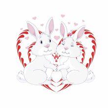 Милый мультфильм Пасхальный стикер на стену в виде кролика детская комната Спальня наклейка домашний съемный стикер s kawaii пасхальные вечер...(Китай)