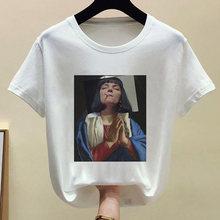 Mona Lisa/Мягкая забавная Эстетическая одежда с аниме для девочек; Летняя одежда для женщин; Хиппи; Белый топ; Летняя уличная одежда(China)