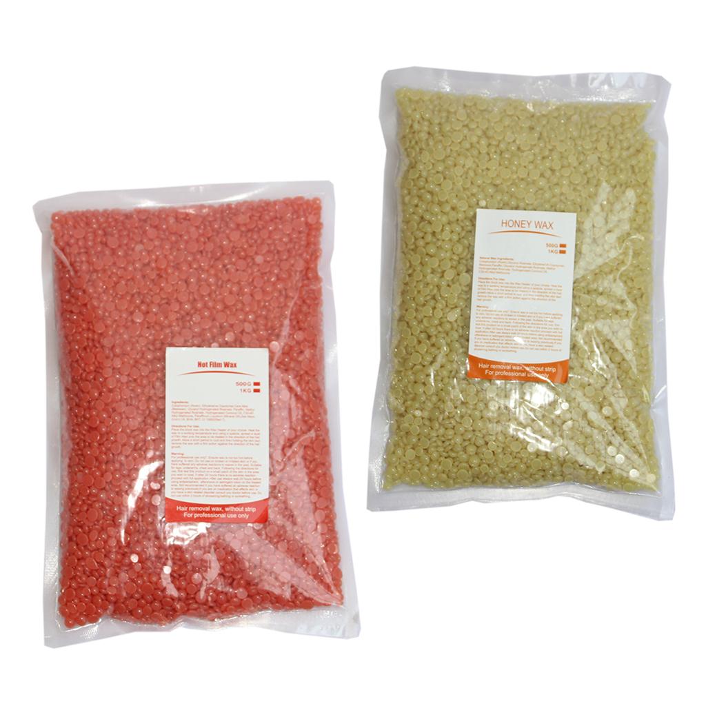 2bags 500g Per Bag Hard Pearl Wax Beans Skin Care Hair Removal